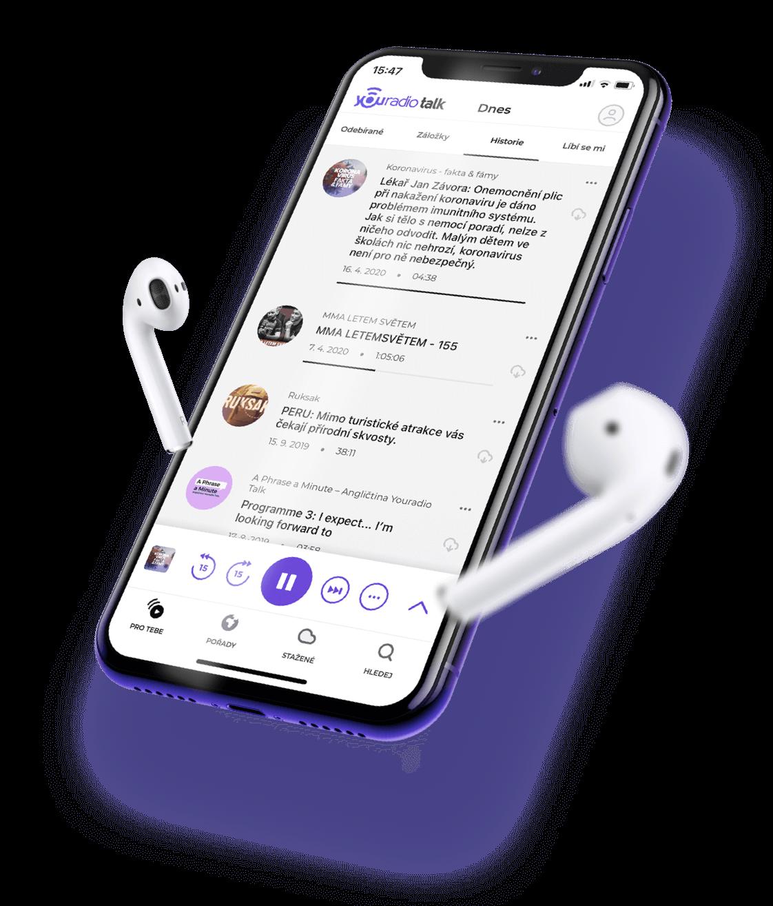 Youradio aplikace
